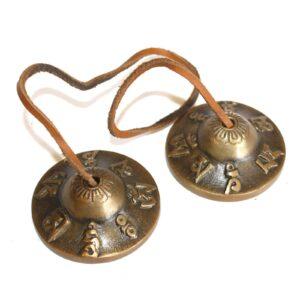 Brass Mini Tingsha Om Mani Tibetan Singing Bowls