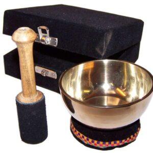 Brass Singing Bowl Gift Set 9cm Tibetan Singing Bowls