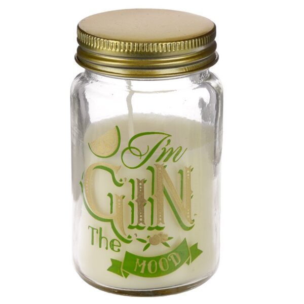 Candle in a Jar Gin the Mood Lemon and Lime Gin Slogans While Stocks Last