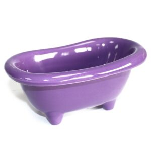 Ceramic Mini Bath Lavender Ceramic Baths for Gift-packs & Display