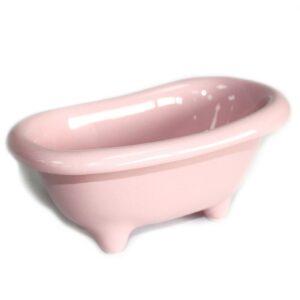 Ceramic Mini Bath Rose Ceramic Baths for Gift-packs & Display