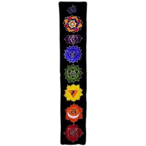 Chakra Drop Banner Midnight 183x35cm Bali Wax Batik Wall Hangings