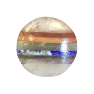 Chakra In Crystal Palm stone 45mm Bonded Chakra Stones