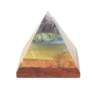 Chakra Pyramid 3035mm Bonded Chakra Stones