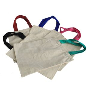 Classic Long Multi Col Handle 38x42cm Very Simple Eco-Cotton Bags