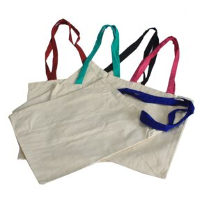 Classic Short Multi Col Handle 35x30cm Very Simple Eco-Cotton Bags
