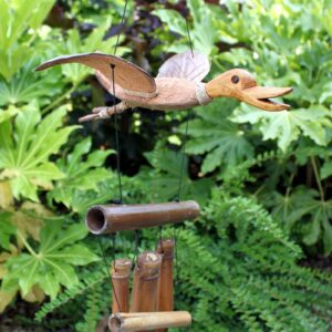 Coconut Duck Windchimes Wild Wild Bamboo Wind Chimes