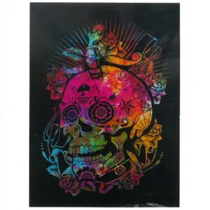 Cotton Wall Art Day of the Dead Skull Cotton Wall Hangings