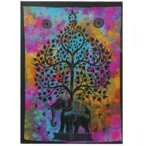 Cotton Wall Art Elephant Tree Cotton Wall Hangings