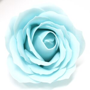 Craft Soap Flowers Lrg Rose Baby Blue Craft Soap Flowers