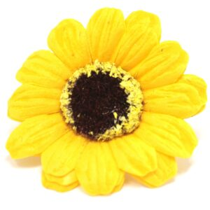 Craft Soap Flowers Sml Sunflower Yellow Craft Soap Flowers