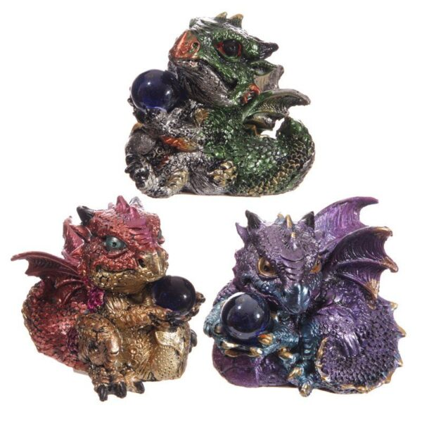 Cute Baby Dragons with Crystal Ball Dark Legends Dragons