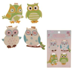 Cute Owl Pegs Pack of 4 While Stocks Last