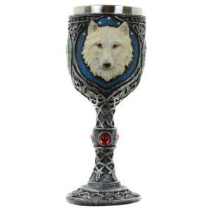 Decorative White Wolf Goblet Favorite Gothic Stuff