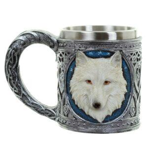 Decorative White Wolf Tankard Favorite Gothic Stuff