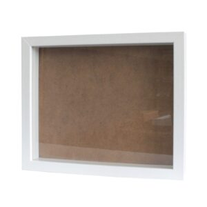 Deep Box Frame Large Portrait 25x30cm White Deep Box Frames