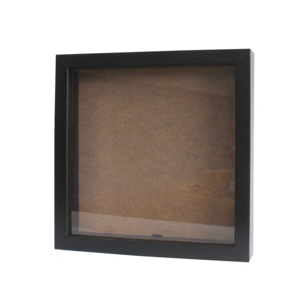 Deep Box Frame Large Square 25x25cm Black Deep Box Frames
