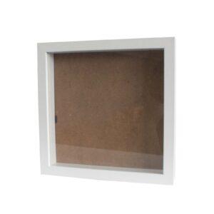 Deep Box Frame Large Square 25x25cm White Deep Box Frames