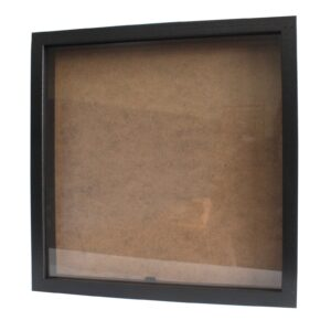 Deep Box Frame Large Square 34x34cm Black Deep Box Frames