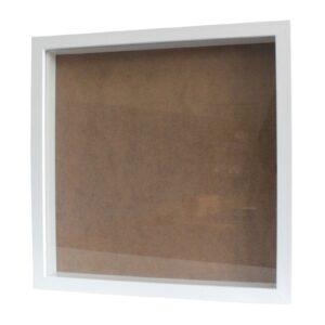 Deep Box Frame Large Square 34x34cm White Deep Box Frames