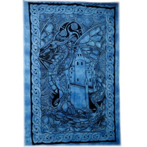 Dragon Castle Iconic Indian Bedspreads or Wall Hangings