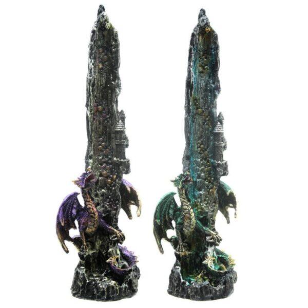 Dragon Waterfall Upright Incense Ash catcher Dark Legends Dragons
