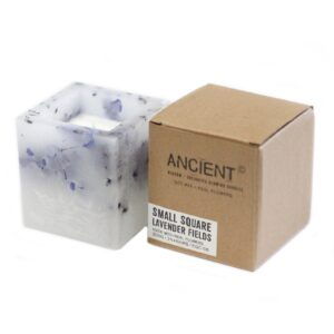 Enchanted Candle Small Square Jar Lavender Enchanted Glowing Candles