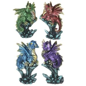 Enchanted Nightmare Dragon Mini Rock Crystal Dark Legends Dragons