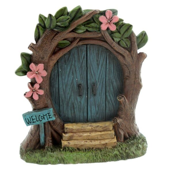 Fairyland Woodland Welcome Fairy Door with Figurine