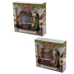 Fairyland Woodland Welcome Fairy Door with Figurine While Stocks Last