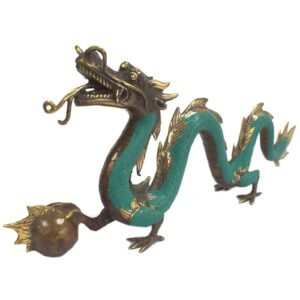 Fengshui Big Dragon with Ball 45cm Brass Fengshui Objects
