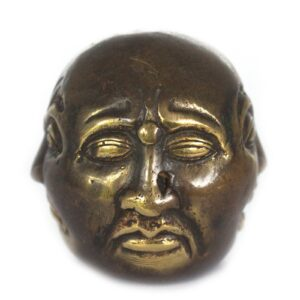 Fengshui Four Face Buddha 6cm Brass Fengshui Objects