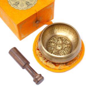 Five Buddha Singing Bowl Set 10cm  min 400gm Tibetan Sing Bowls Sets