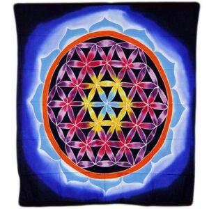 Flower of Life and Love 107x103cm Bali Wax Batik Wall Hangings