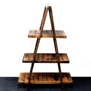 "Folding ""A"" Frame Display Brown Retail Display Stands"