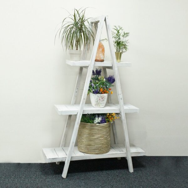 """Folding """"A"""" Frame Display Whitewash Display Stands"""