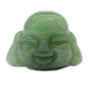 Gemstone Buddha Head Jade Gemstone Figures