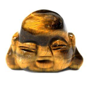 Gemstone Buddha Head Tiger Eye Gemstone Figures