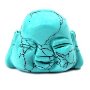 Gemstone Buddha Head Turquoise Gemstone Figures
