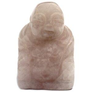 Gemstone Buddha Rose Quartz Gemstone Figures