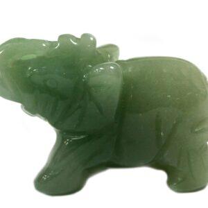 Gemstone Elephant Jade Gemstone Figures