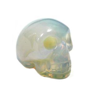 Gemstone Skull Opalite Gemstone Figures