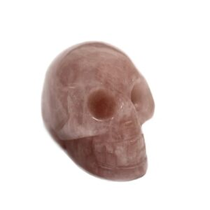 Gemstone Skull Rose Quartz Gemstone Figures