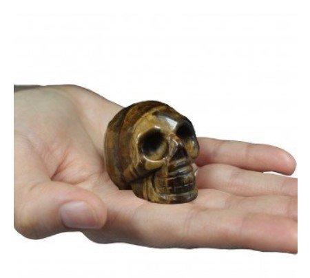 Gemstone Skull Tiger Eye Myth & Magic