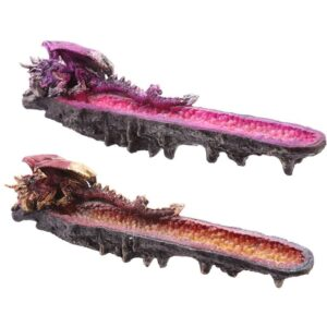 Geode Crystal Dragon Outcrop Incense Ash catcher Dark Legends Dragons