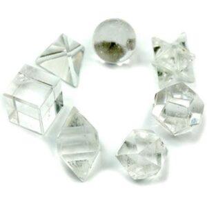 Geometric Seven Piece Crystal Set Esoteric Pouch Sets