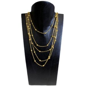 Gold Coated Curb Chain Beaded 925 Silver Curb Chains