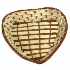 Heart Shape Baskets 23 x 21 x 5 cm Village Baskets