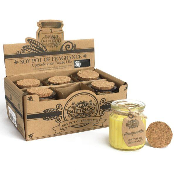 Honeysuckle Soy Pot of Fragrance Candles Home Décor