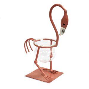 Hydroponic Home Decor Pink Metal Flamingo Des 1 Hydroponic Home Décor Pots